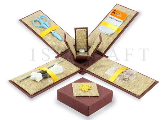 Jute Stationery Box