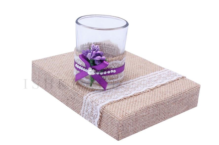 Jute Covered Gift Box