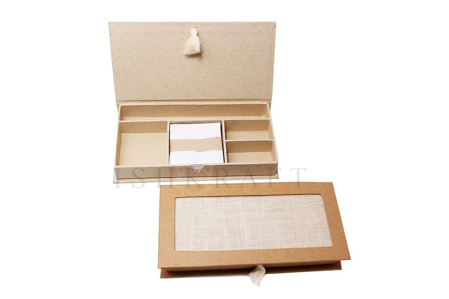Paper Stationery Box with Compartments