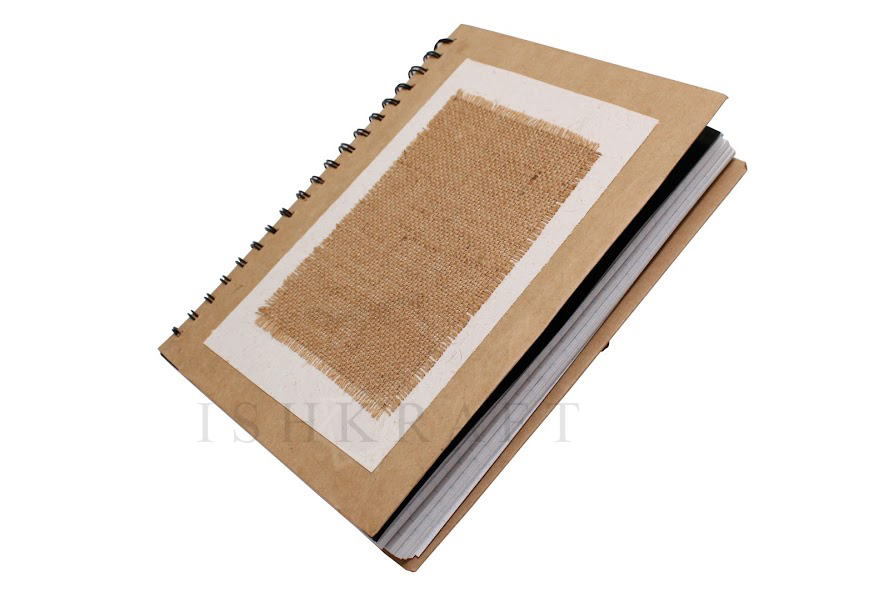Jute Covered Paper Notebook