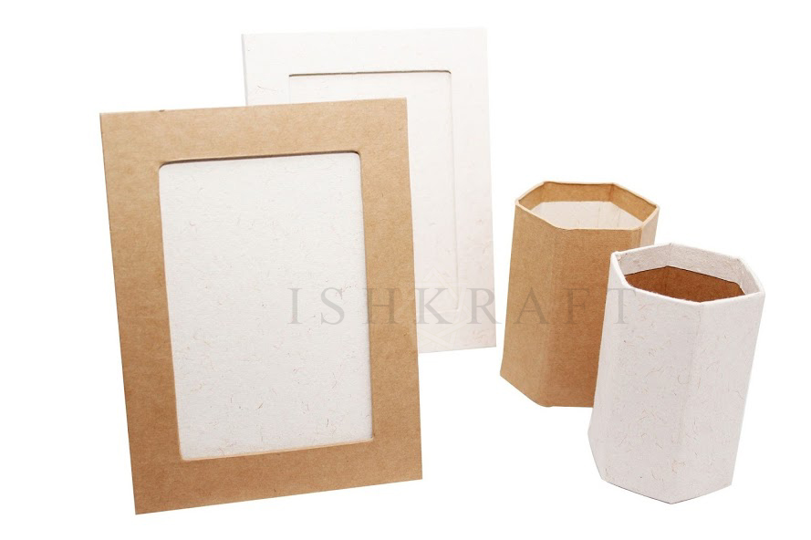Paper Photo Frame and Pen Holder