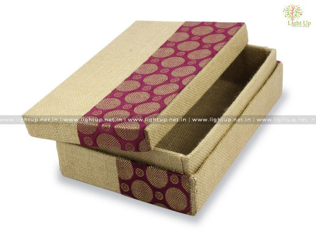 Jute Covered Storage Box