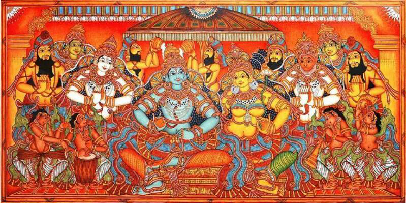 Kerala Mural Rama