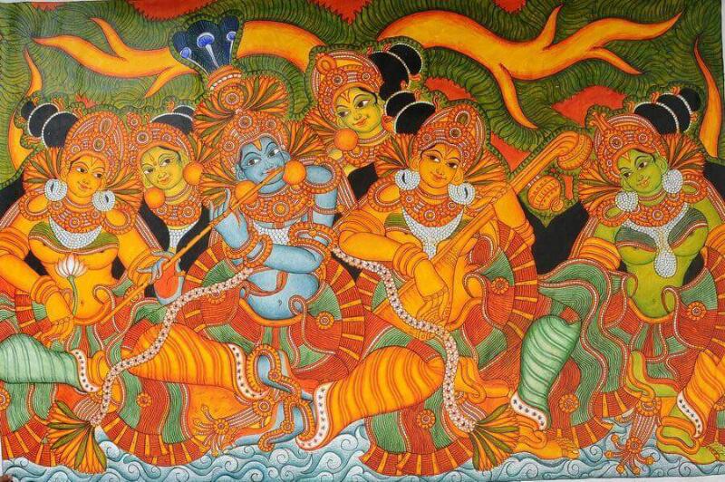 Kerala Mural Krishna