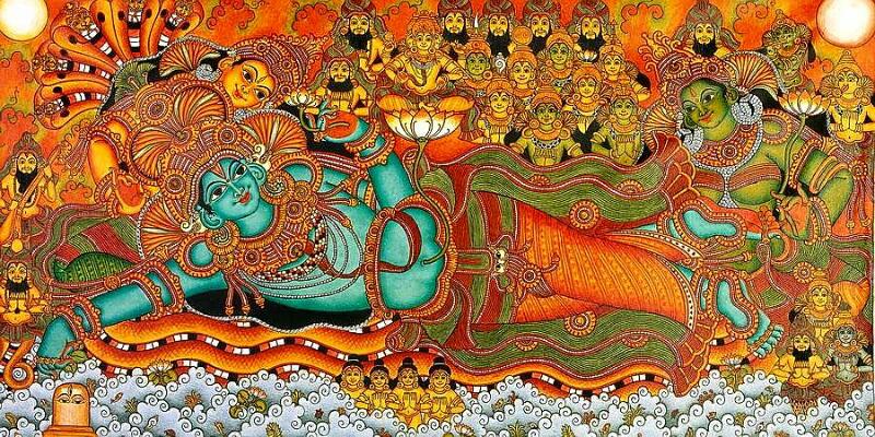 Kerala Mural Vishnu