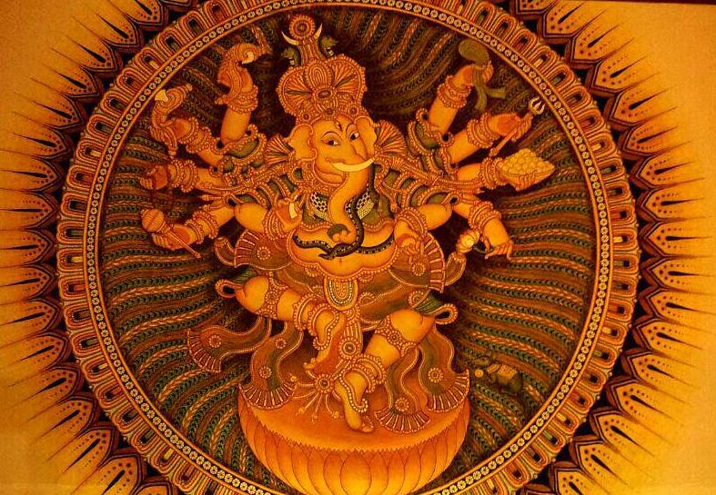 Kerala Mural Ganesha