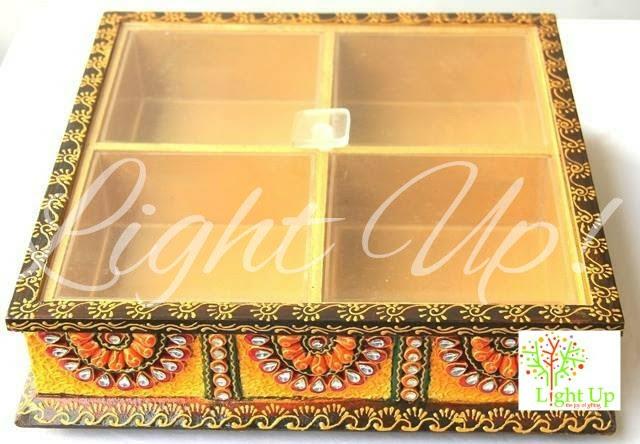 Paper Mache Box With Compartments